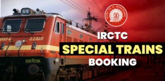 Indian railway irctc special trains