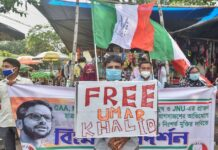 Activists of Welfare Party of India demand release of Umar Khalid