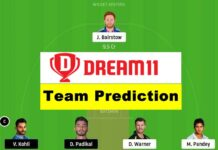 SRH vs RCB ipl dream 11 team prediction