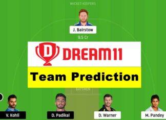 SRH vs RCB ipl dream 11 team prediction