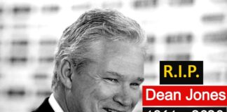 Dean jones dies of heart attack