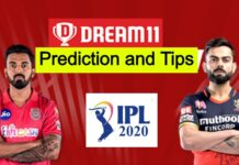 KXIP vs RCB Dream11 Tips And Predictions