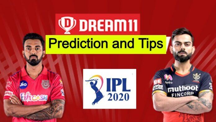 KXIP vs RCB Dream11 Tips And Predictions