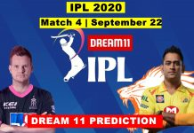 RR vs CSK Dream11 Team Hints And Predictions