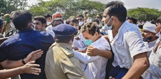 Rahul Gandhi arrested by UP Police on his way to Hathras