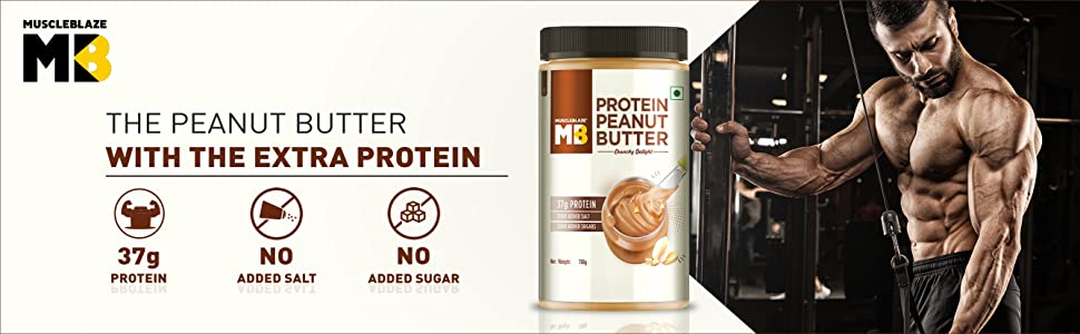 MuscleBlaze High Protein Natural Peanut Butter with Whey Protein