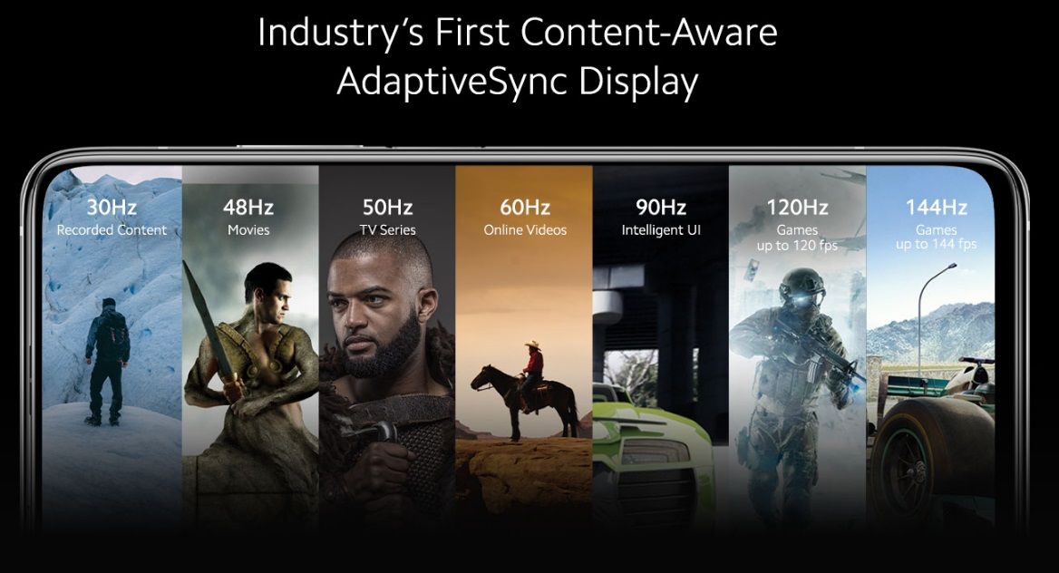 Xiaomi Mi 10T 5G first content aware adaptive sync display