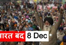 Bharat Band 8 Dec Farmers protest